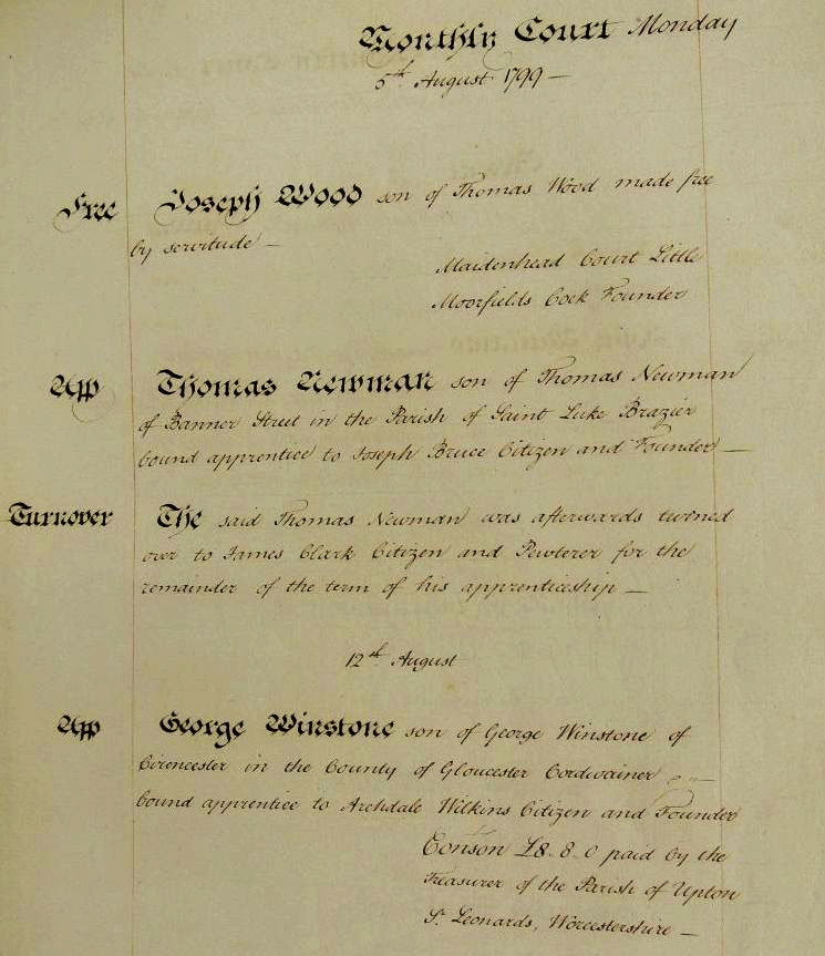 A sample of a Founders' document