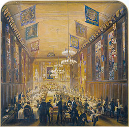 Livery Dinner in the fourth Clothworkers' Hall, 1857